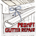 baling-twine-gutter repair